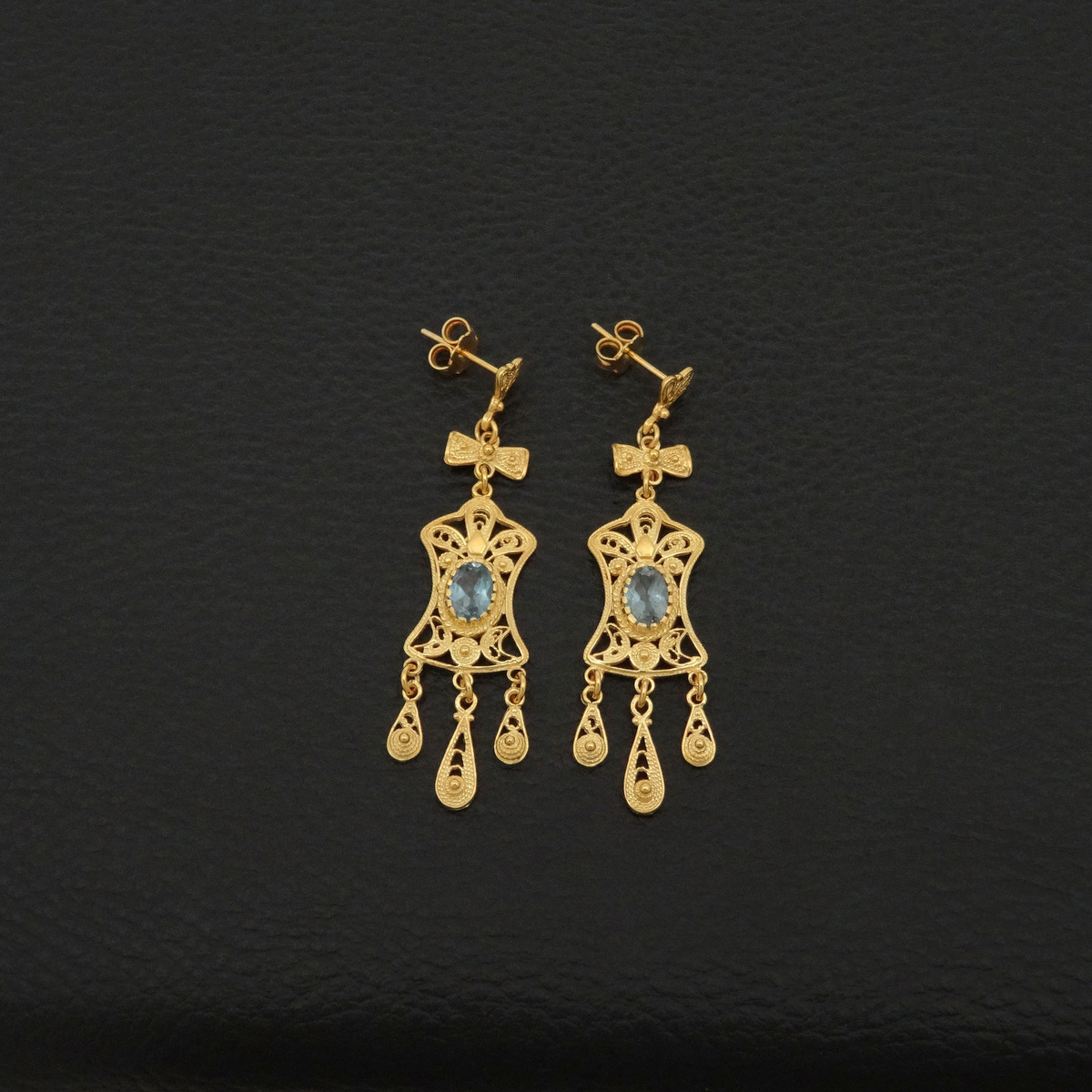 22ct gold plated earrings 925 sterling silver